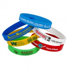 Custom Printed Awareness Silicone Bracelet